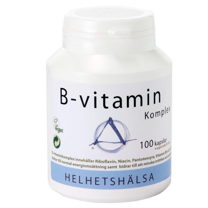Helhetshälsa B-vitamiini Yhdistelmä 100 kapselia
