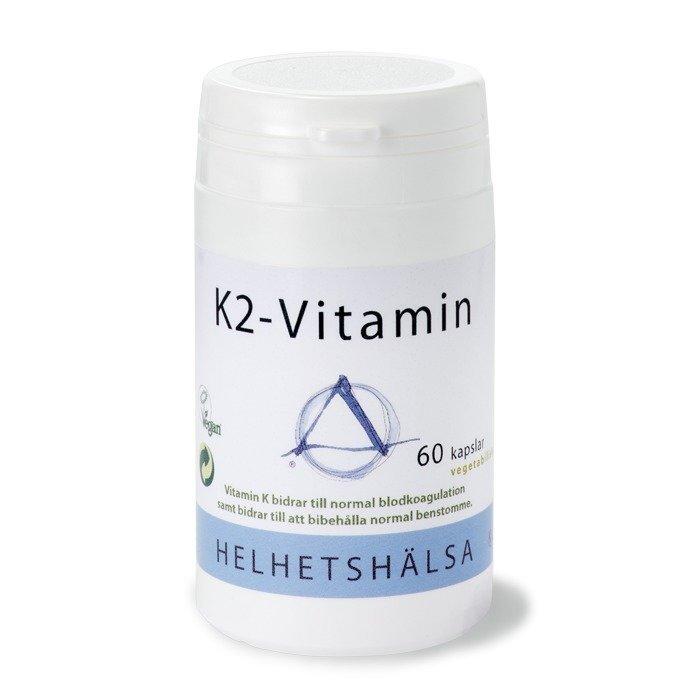 Helhetshälsa K2-Vitamiini 60 kapselia