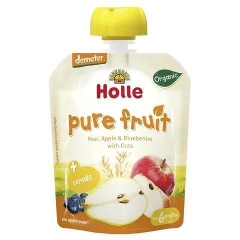 Holle Luomu Hedelmäsose Päärynä-Omena-Mustikka-Kaura