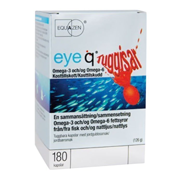 IQ Medical Eye Q Chews Purutabletti Mansikka 180 kapselia