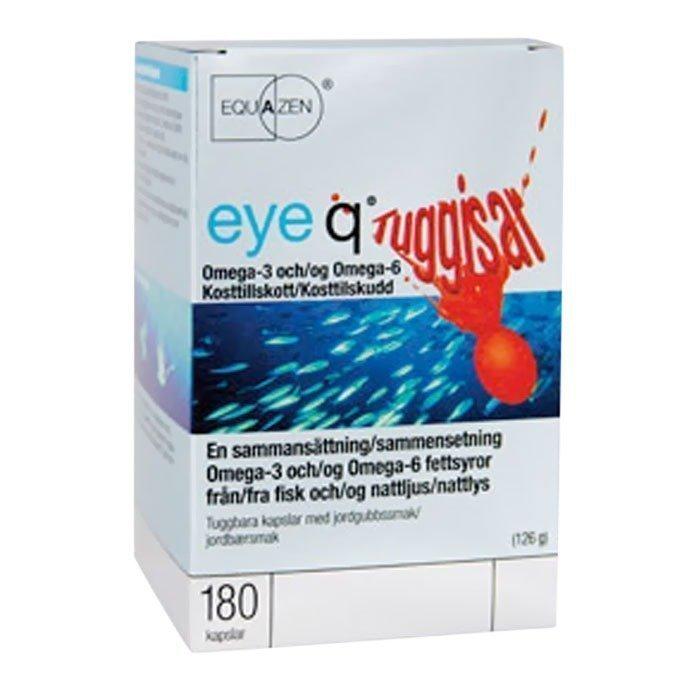IQ Medical Eye Q Chews Purutabletti Mansikka 180 kapselia