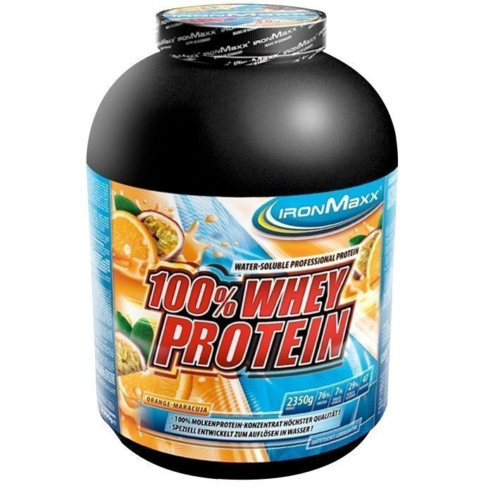 IronMaxx 100% Whey Protein 2350 g Appelsiini-Passionhedelmä