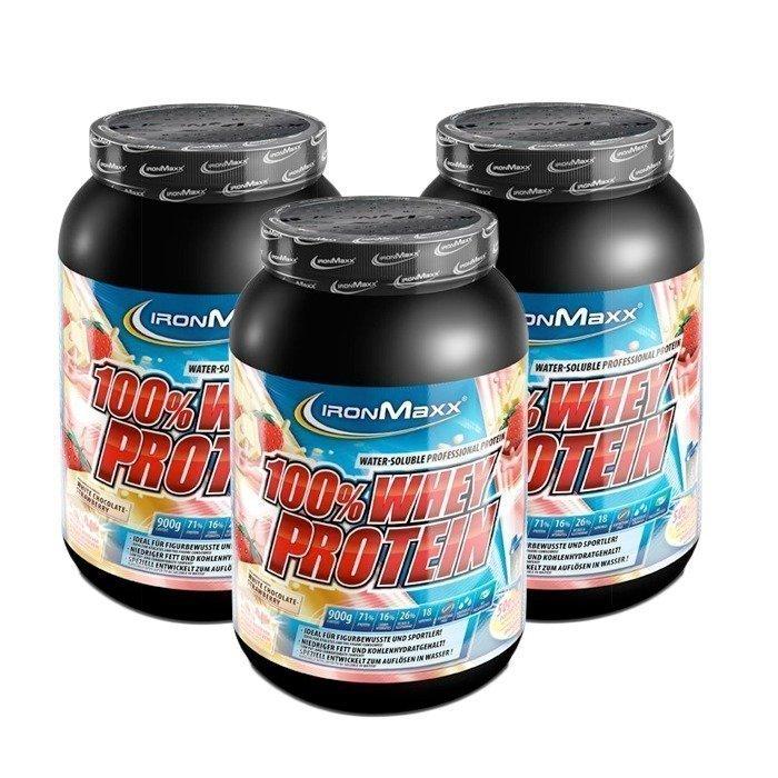IronMaxx 3 x 100% Whey Protein 900 g Favorite Flavors!