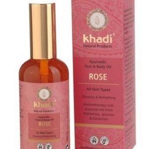 Khadi Kasvo- Ja Vartaloöljy Ruusu