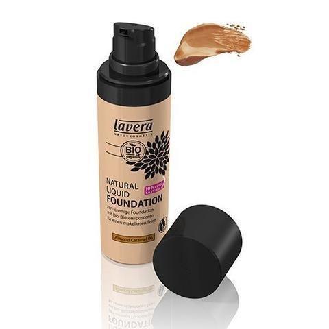 Lavera Natural Liquid Foundation Meikkivoide Almond Caramel 06