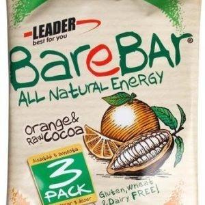 Leader Barebar Raakapatukka Appelsiini-Raakakaakao 3-Pack
