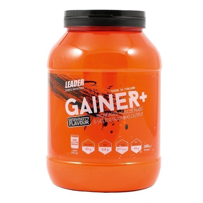 Leader Gainer+ 1000 g Strawberry