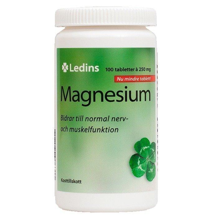 Ledins Magnesium 250 mg 100 kpl