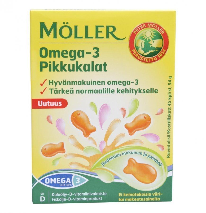 Möller Omega-3 Pikkukalat 45kpl
