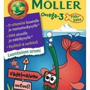 Möller Omega-3 Pikkukalat Vadelma
