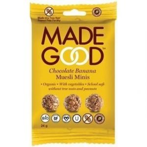 Madegood Gluteeniton Luomu Granolapallot Suklaa-Banaani