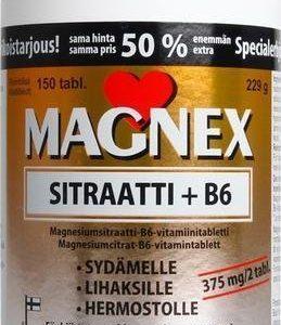 Magnex Sitraatti + B6-Vitamiini Kampanjapakkaus