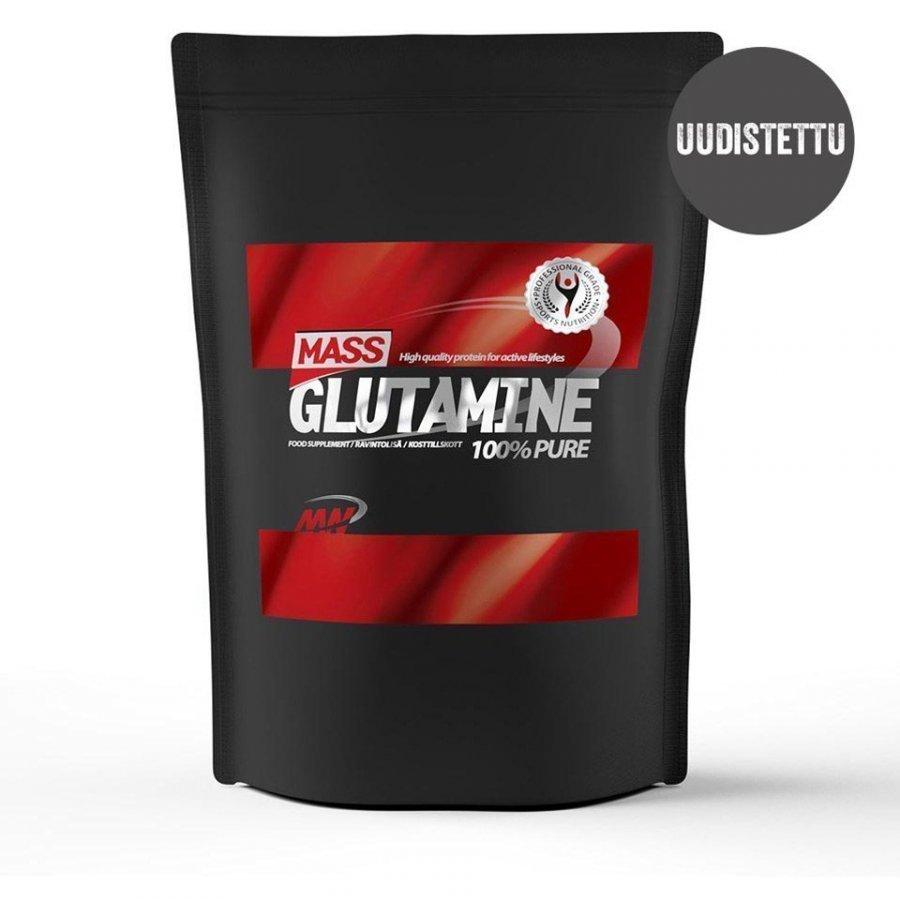 Mass Glutamine 1 Kg Pussi Maustamaton