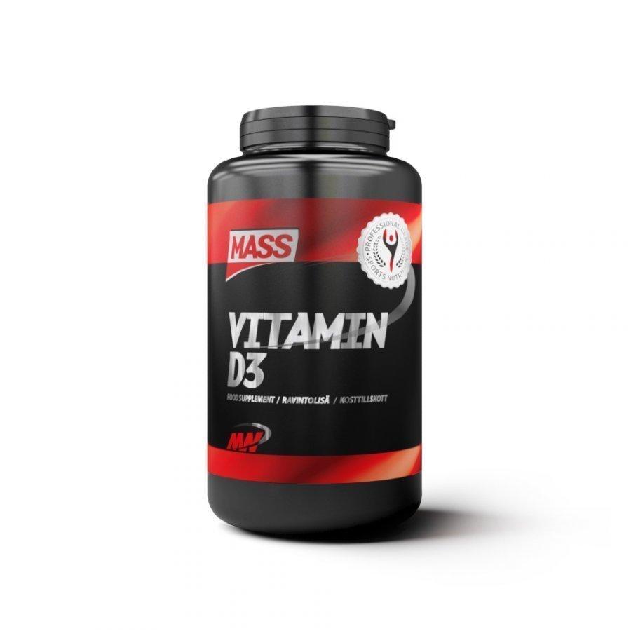 Mass Vitamin D3 360 Capsules Purkkia Maustamaton