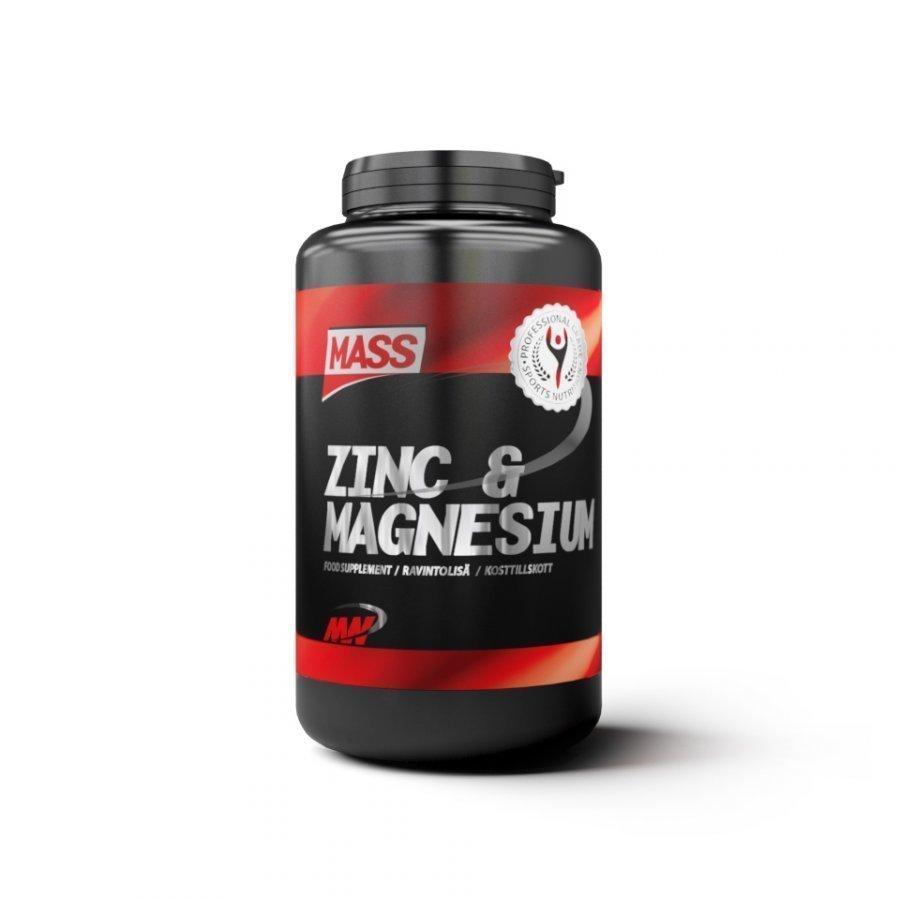 Mass Zinc And Magnesium 250tablets Purkkia Maustamaton