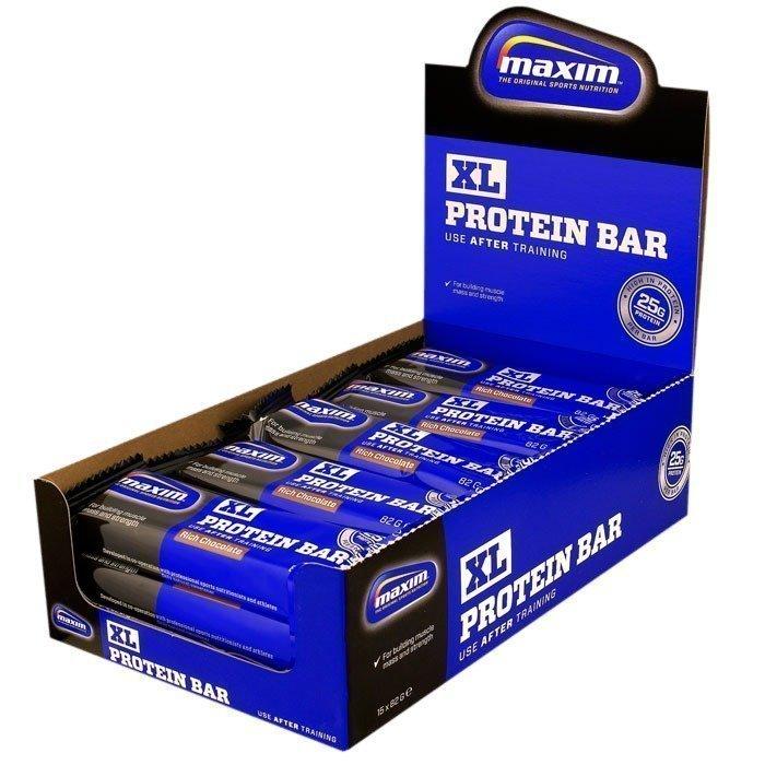 Maxim 15 x Maxim XL Proteinbar 82 grammaa