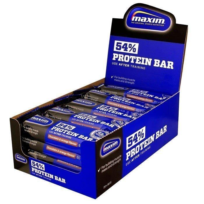 Maxim 20 x Maxim 54% Proteinbar 80 grammaa