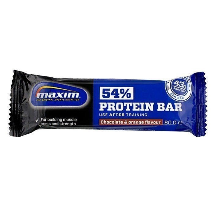 Maxim 54% Protein bar 80 g Chocolate/Orange