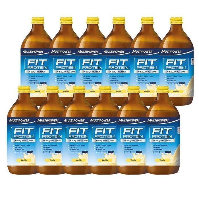 Multipower 12 x Multipower Fit protein 500 ml