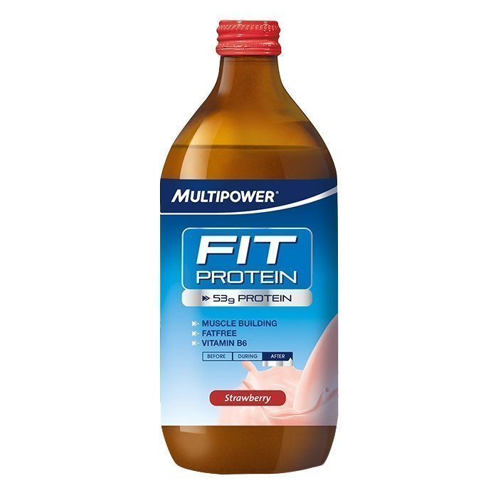 Multipower Fit Protein 500 ml Mansikka