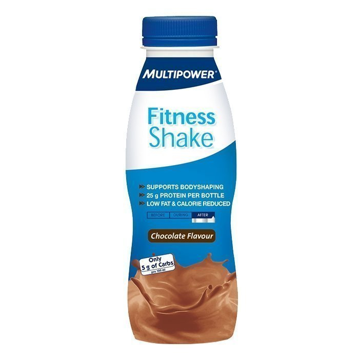 Multipower Fitness Shake Low Carb 330 ml Mansikka