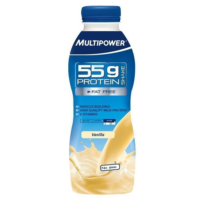 Multipower Protein shake 55 g 500 ml Jordgubb