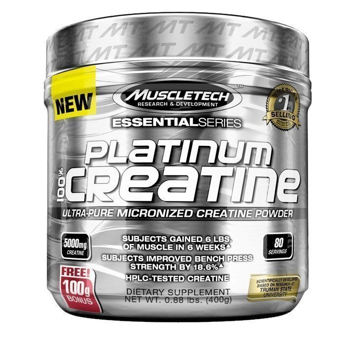 MuscleTech 100% Platinum Creatine 402g