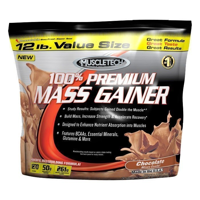 MuscleTech 100% Premium Mass Gainer 5.5kg Strawberry