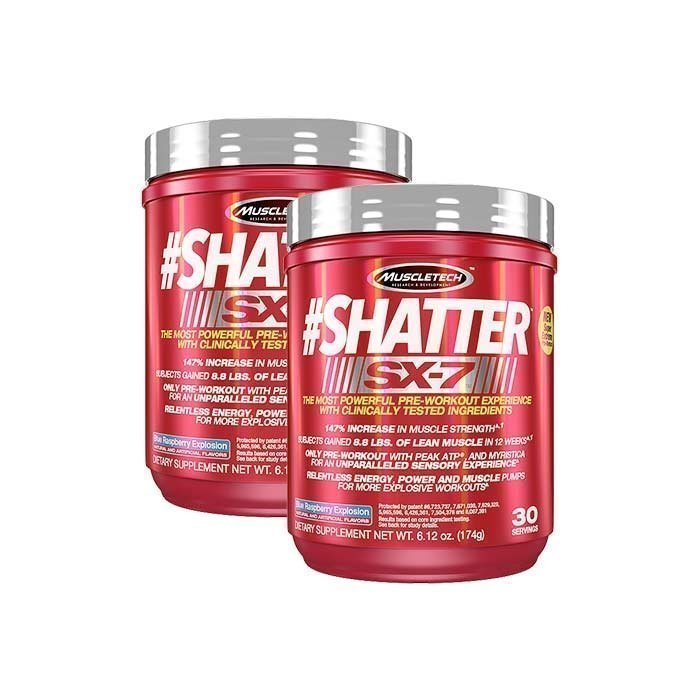 MuscleTech 2 x Shatter SX-7 30 Servings