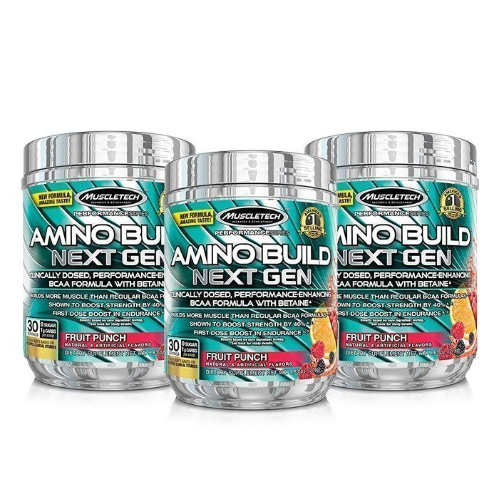 MuscleTech 3 x Amino Build Next Gen 30 servings