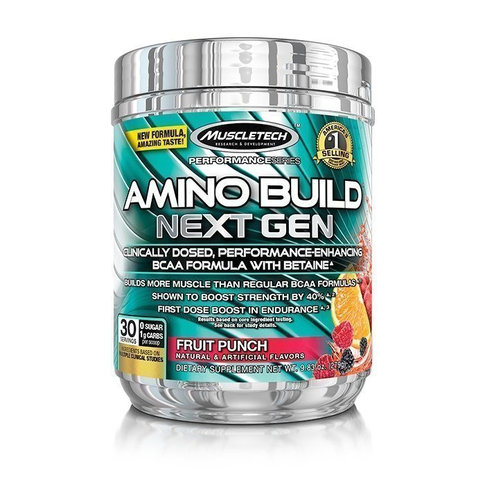 MuscleTech Amino Build Next Gen 30 servings White Raspberry