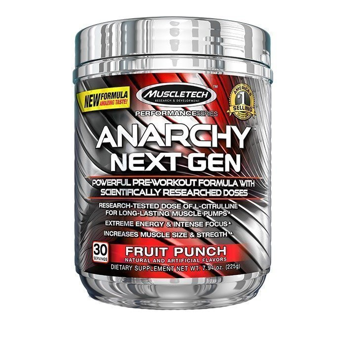 MuscleTech Anarchy Next Gen 30 servings Blue Raspberry