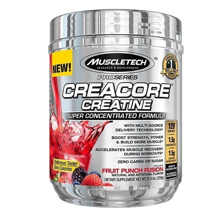MuscleTech Creacore Creatine 120 servings Fruit Punch Fusion