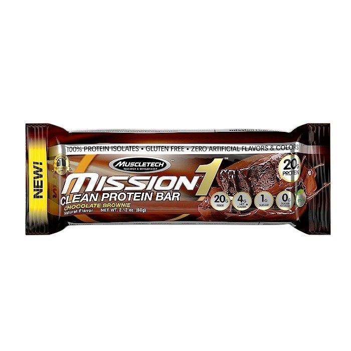 MuscleTech Mission1 Clean Protein Bar 60g Chocolate Chip Cookie Dough