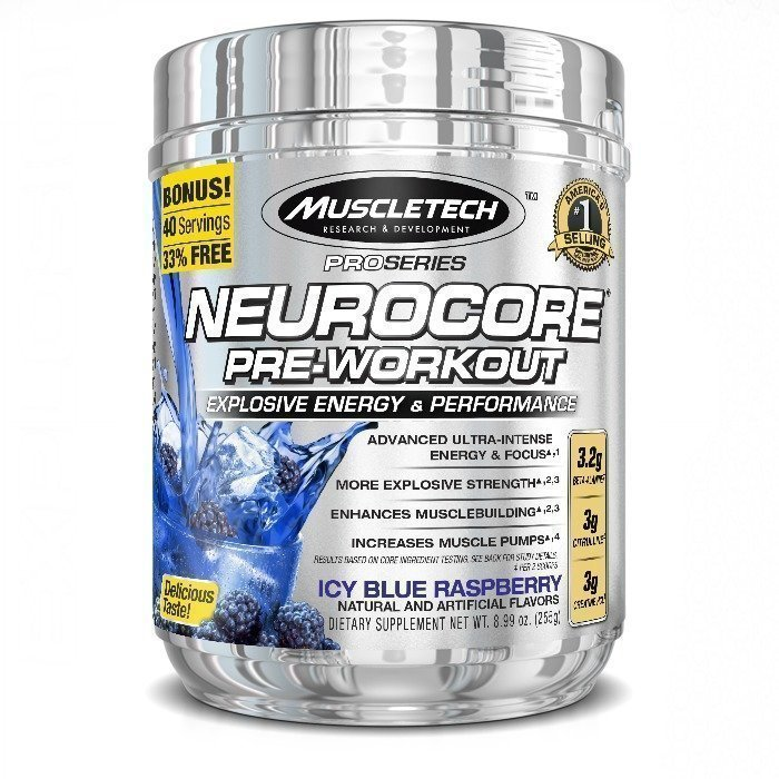 MuscleTech Neurocore 50 servings Blue Raspberry
