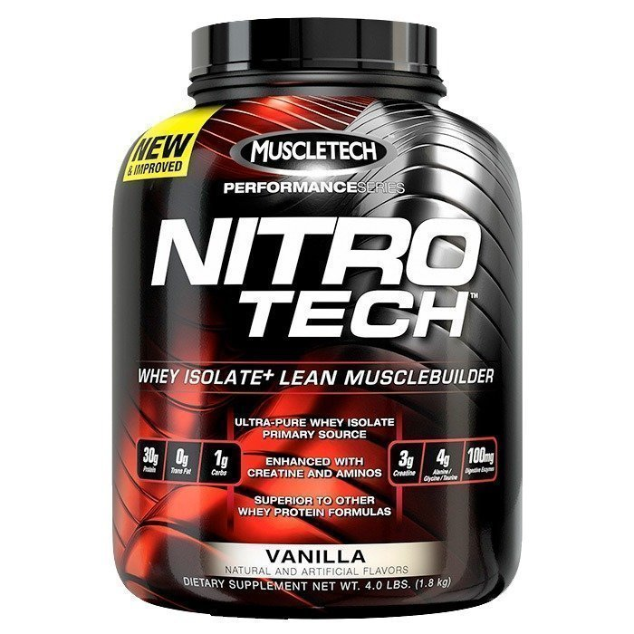 MuscleTech Nitro-Tech Performance Series 1.8kg Vanilla Birthday Cake
