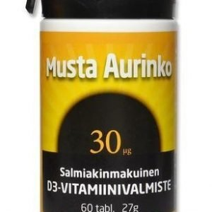 Musta Aurinko D3-Vitamiini 30 Mikrog