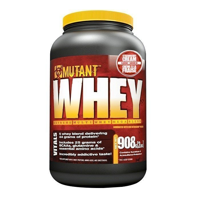 Mutant Whey 908 g Strawberry Cream