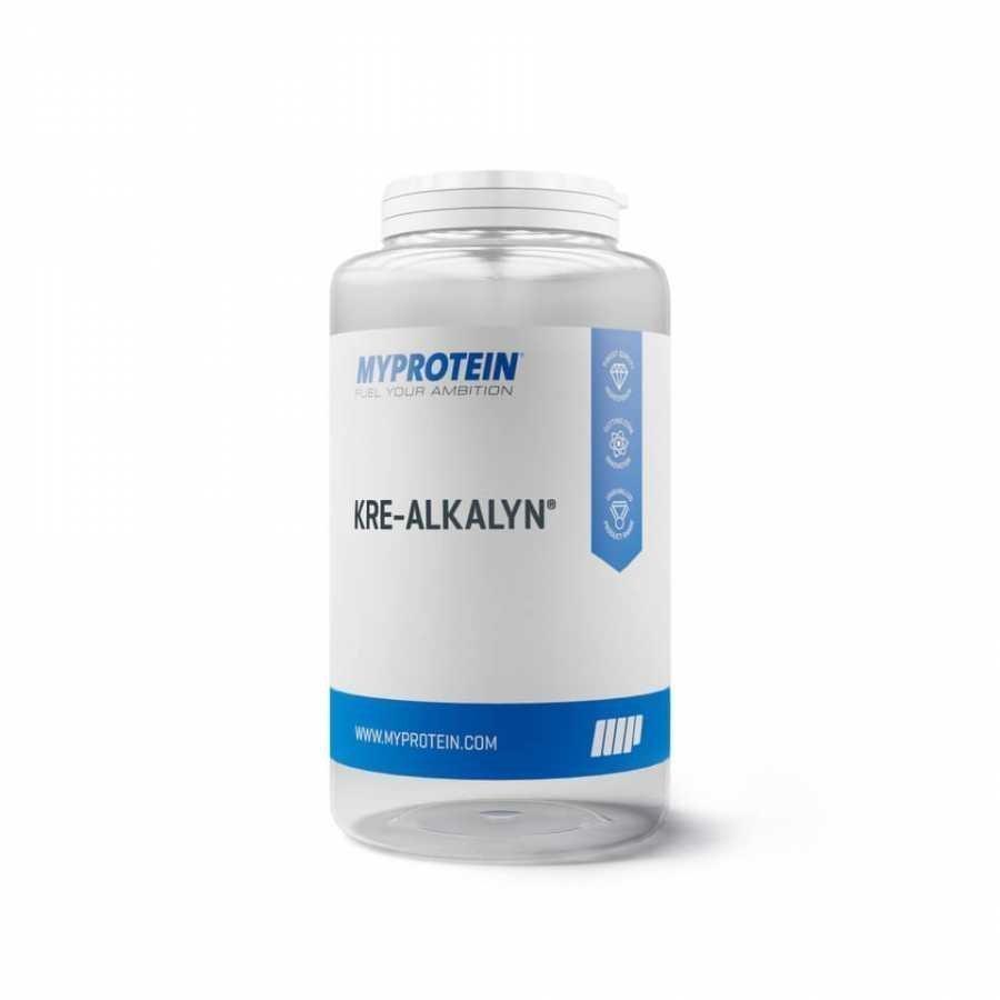 Myprotein Kre-Alkalyn -kreatiinivalmiste 120capsules Muovipurkki Maustamaton