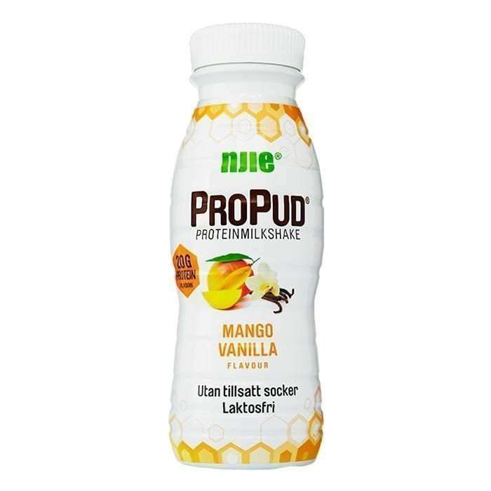 NJIE ProPud Protein Milkshake 330 ml White Chocolate Raspberry