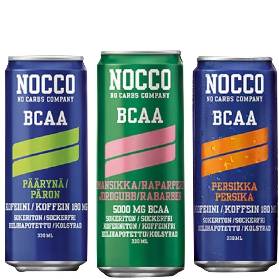 Nocco Bcaa 4 X 330 Ml Mansikka