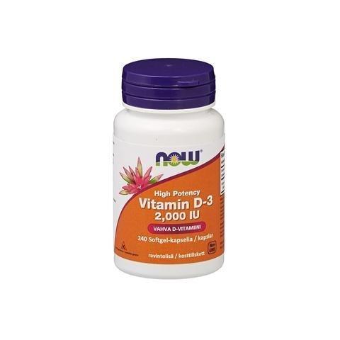 Now Foods D3-Vitamiini 50 Mikrog