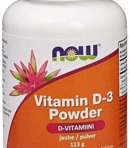 Now Foods D3-Vitamiinijauhe