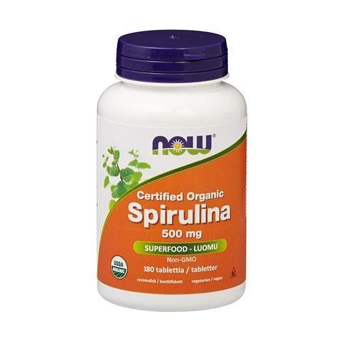 Now Foods Luomu Spirulina 500 Mg