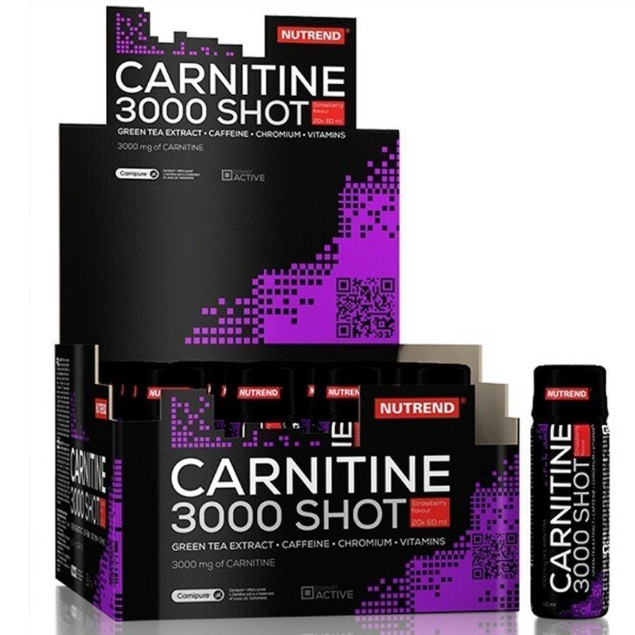 Nutrend Carnitine 3000 Shot 20x60 Ml Mansikka