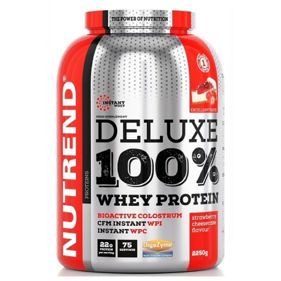 Nutrend Deluxe 100 % Whey 2250 G Strawberry Cheesecake