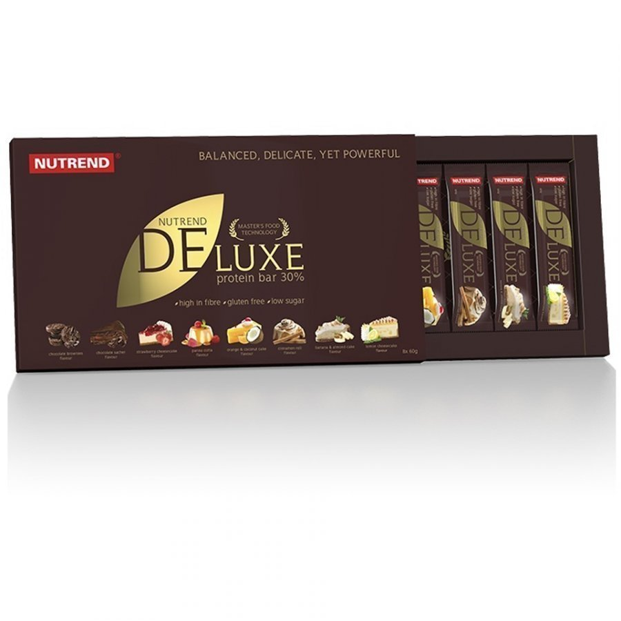 Nutrend Deluxe Bar 1x60 G Bar 12x60 G Bars Banana And Almond Cake