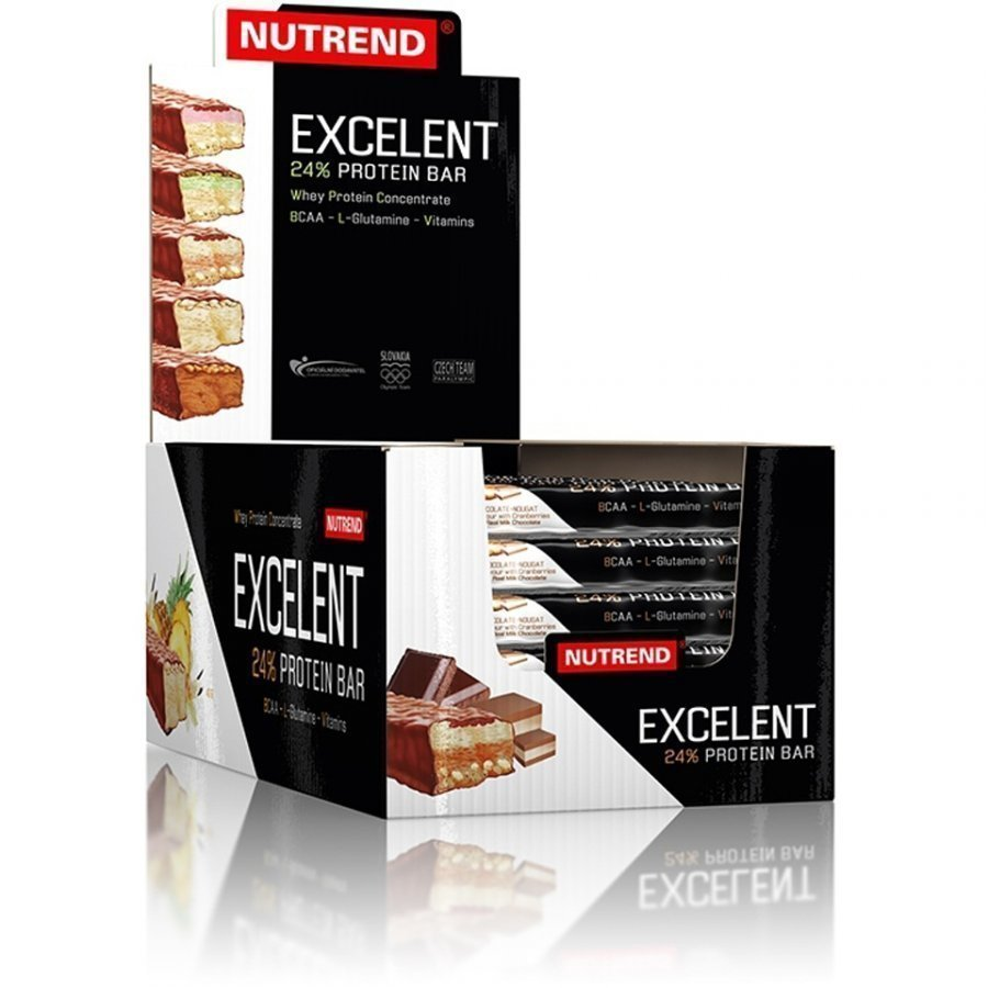 Nutrend Excelent Protein Bar 1x85 G Bar 30x40 G Bars Chocolate With Nuts