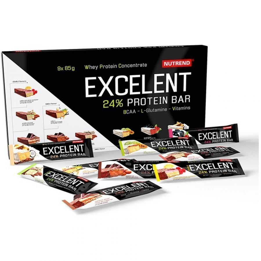 Nutrend Excelent Protein Bar Mix Flavours 9x85 G Bars