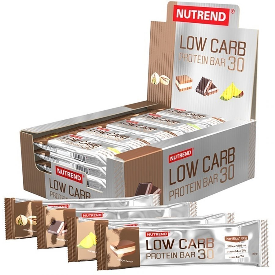Nutrend Low Carb Protein Bar 30 1x80 G Bar 24x80 G Bars Mango